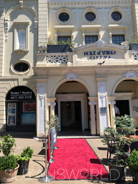 Entrance of the Duke of Yorks cinema with a red carpet
