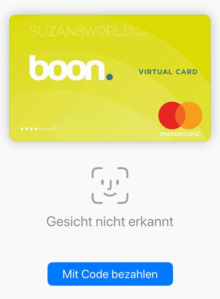 Sceenshot of failed recognition of my face while using Apple Pay.